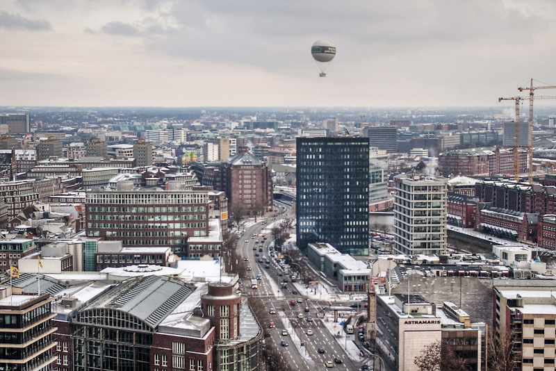 Photo of the Day: Above the snowy City